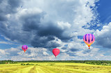 Morning flight of the hot air balloons.