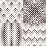 Set of geometric colorful seamless patterns