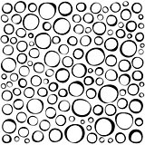 irregular circles collection in black over white