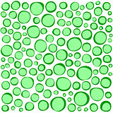irregular circles collection in green over white