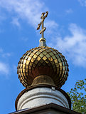 Golden dome of the Orthodox Church