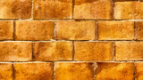 Wall of yellow bricks. Background. Drawing.