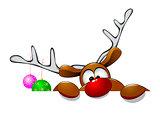 Cute Christmas reindeer Rudolph