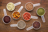 superfood seed, berry, powder and grain