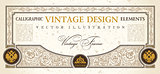 vector certificate or coupon template design element. vintage la