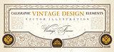 vector certificate or coupon template design element. vintage la