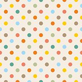 Tile pattern with pastel polka dots