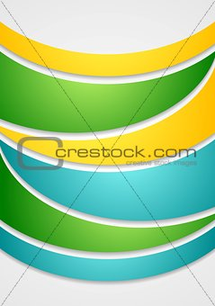 Bright elegant waves abstract background