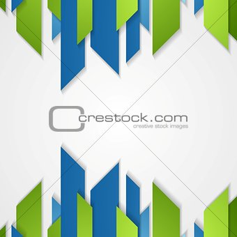 Abstract green blue tech vector shapes design