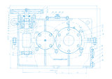 Abstract engineering drawing vector background