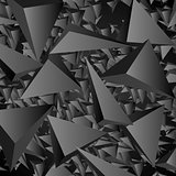 Dark geometric polygonal vector background