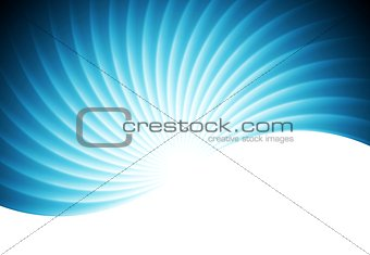 Abstract swirl wavy blue vector background