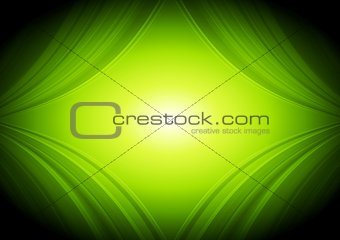 Abstract vector green waves tech background