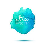 Blue watercolor vector banner