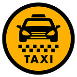 cab yellow icon for taxi drive