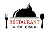 restaurant icon with dish