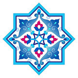 designed with shades of blue ottoman pattern series four