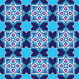 designed with shades of blue ottoman pattern series six