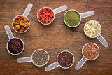 superfoods -  seed, berry, powder and grain