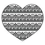 Mehndi, Indian Henna tattoo heart seamless pattern
