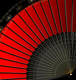 image of red fan