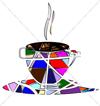 abstract cup of tea