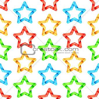 Folded Stars Seamless Pattern