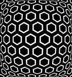 Geometric hexagons pattern. Textured background.
