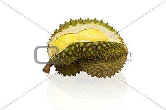 King of fruit, Durian isolated on white background