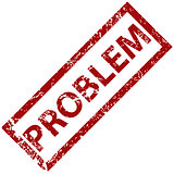 Problem rubber stamp