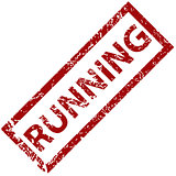 Running rubber stamp