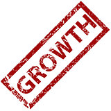 Growth rubber stamp