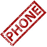 Phone rubber stamp