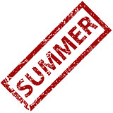 Summer rubber stamp