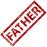 Father rubber stamp