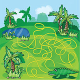 Maze game with crocodile