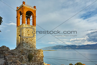 Clock tower in Nafpaktos town