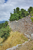 Wall of the castle of Lamia town