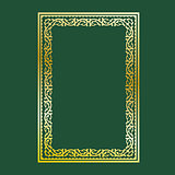 Gold decorative frame