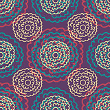 Seamless floral pattern with hand drawn flowers.