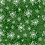 seamless pattern with flowers on a green background grunge