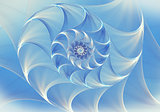 Background with an abstract blue shell spiral