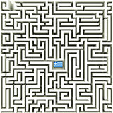 Greek flag in a maze