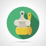 Flat color vector icon for honey jar