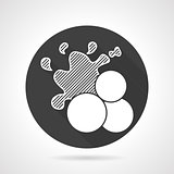 Paint balls black round vector icon