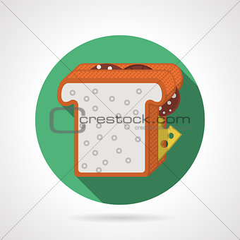 Flat color vector icon for sandwich