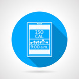 Contour vector icon for calorie control app
