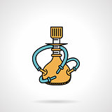 Yellow hookah flat design vector icon