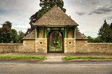 Enterance to graveyard with locked gates