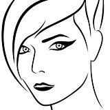 Abstract female beautiful head